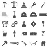 Construction icons on white background — Stock Vector