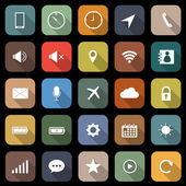 Mobile phone flat icons with long shadow — Cтоковый вектор