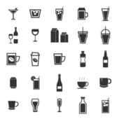 Drink icons on white background — Stock Vector