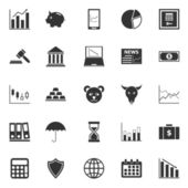 Stock market icons on white background — Stock Vector