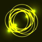 Yellow plasma circle effect background — Stock Vector