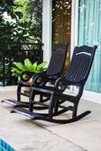 Couple vintage wooden arm chairs — ストック写真