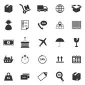 Logistics icons on white background — Cтоковый вектор