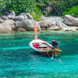 Taxi boat in the tropical  sea — Stockfoto