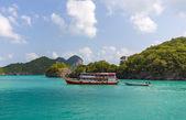 Ein touristenboot ang thong nationalpark thailand — Stockfoto