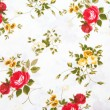 Fabric retro pattern with floral ornament — Stock Photo #33621365