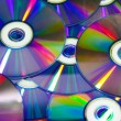 Compact discs with colour light — Stock Photo