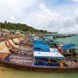 Phi phi sea port phi phi island — Stock Photo