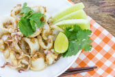 Fried squid — Stock Photo