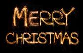 Merry christmas sparkler — Stock Photo