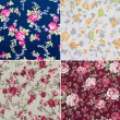 Fabric retro pattern with floral ornament — Stock Photo