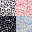 Floral pattern. Flowers fabric — Stock Photo