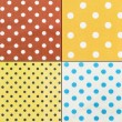 Polka Dots farbic — Stock Photo