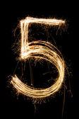 Pięć — Zdjęcie stockowe