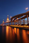Rama VIIII Bridge — Stock Photo