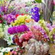 Artificial flowers market — Stock Photo