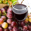Stock Photo: Glass of grape juice