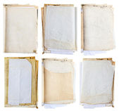 Stack of old paper document isolate on white — Stockfoto