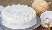 Coconut cream cake — Stock Photo