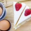 Stock Photo: Strawberries Cake