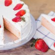 Strawberries Cake — Stock Photo