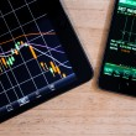 Stock market application — Stock Photo
