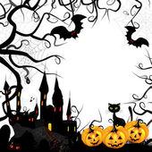 Halloween card with pumpkin — Stock Vector