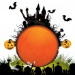 Halloween card with pumpkin — Stock Vector