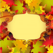 Beautiful autumn background with  leaves — Stock Vector