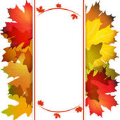 Fall leafs abstract background — Stockvector