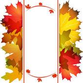 Otoño hojas resumen antecedentes — Vector de stock