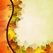 Fall leafs — Stock Vector