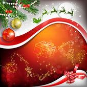 Decoración de la navidad con la cinta — Vector de stock