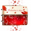 Stock Vector: Happy Valentines day banner