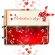 Happy Valentines day banner — Vector de stock
