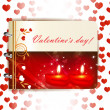 Vector de stock : Happy Valentines day banner