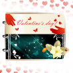 Happy Valentines day banner — Stock Vector