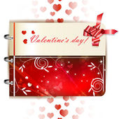 Happy Valentines day banner — Stock Vector