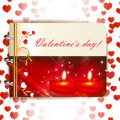 Heureuse saint valentin bannière — Vecteur