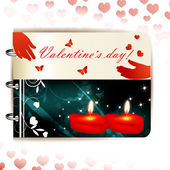 Happy Valentines day banner — Vettoriale Stock