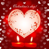Valentine`s day background — Vettoriale Stock