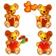 Teddy Bears with heart — Stock Vector #22799872