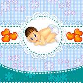 Baby boy — Stock Vector