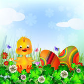 Beautiful Easter Background — Stock Vector