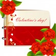 Valentine s day card — Stockvectorbeeld