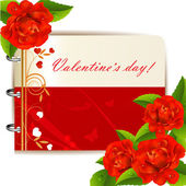 Valentine s day card — Vector de stock