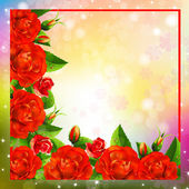 Background with roses — Vector de stock