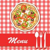 Pizza menu — Stock vektor