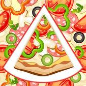Pizza plátek — Stock vektor
