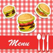 Fast-Food-Produkte. — Stockvektor